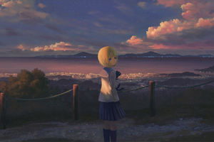 Anime Girl Alone Standing