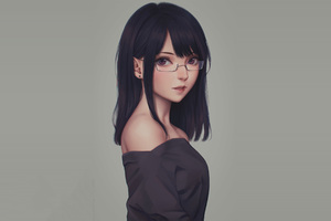 Anime Glasses Girl