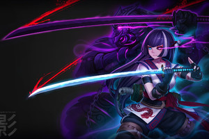 Anime Warrior Girl Wallpaper