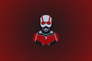 Ant Man Minimalism 12k Wallpaper