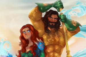Aquaman And Mera Artwork
