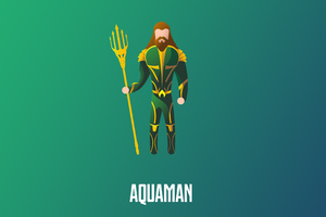 Aquaman Illustration 4k Wallpaper