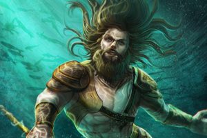 Aquaman Underwater Artwork 4k Wallpaper