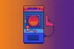 Arcade Games Retro Wave