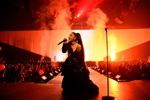 Ariana Grande Live Performance On Stage
