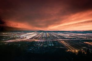Arizona Neon Light Trail City Scape 5k