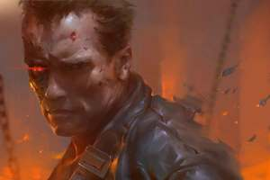 Arnold Schwarzenegger As Terminator Artwork