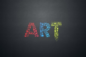 Art Letters Creative Minimalsim Wallpaper
