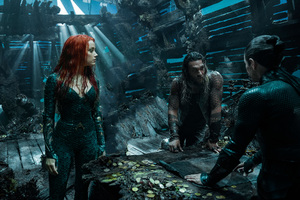 Arthur Curry And Amber Heard As Mera In Aquaman 2018