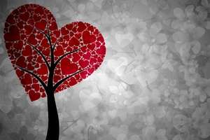 Artistic Heart Tree Wallpaper