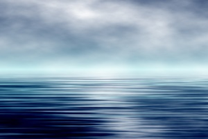 Artistic Ocean and Sky Wallpaper