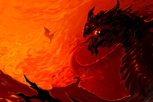 Artwork Dragon Fire Wallpaper