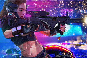 Asian Girl Cyberpunk 2077 Wallpaper