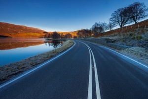 Asphalt Road Landscape Wallpaper