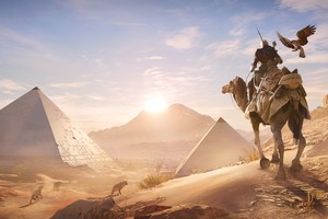 Assassins Creed Origins Pyramids E3 Concept Art Wallpaper