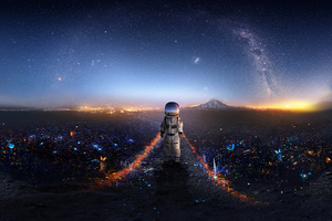 Astronaut Creative Artwork Deviantart Wallpaper