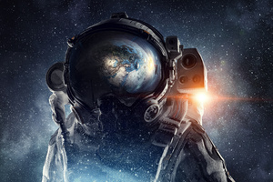 Astronaut Galaxy Space Stars Digital Art 4k Wallpaper