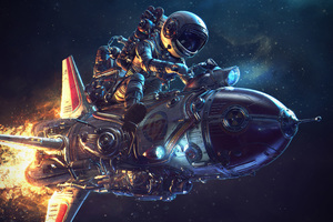 Astronaut Rocket Science Fiction 4k