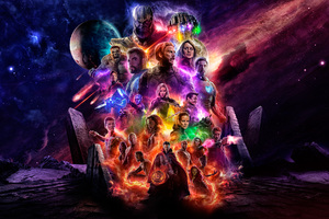 Avengers 4 Offical Poster Artwork 2019 5k