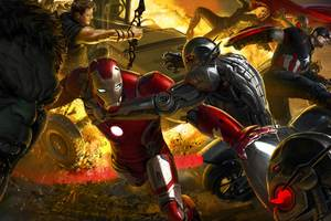 Avengers Age Of Ultron Artwork 8k