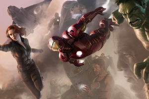 Avengers Black Widow Hulk Iron Man Wallpaper
