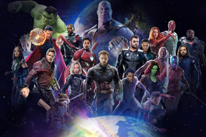 Avengers Infinity War 2018 All Characters Poster