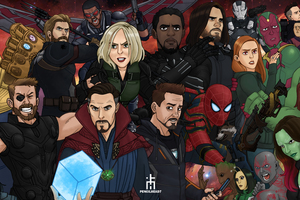 Avengers Infinity War Artwork