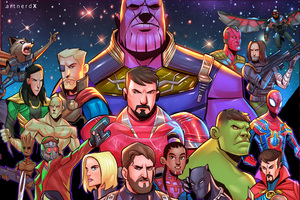 Avengers Infinity War Superheroes Artwork