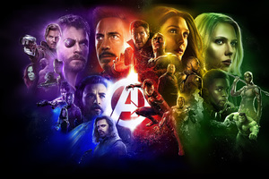Avengers Infinity War Superheroes Poster Wallpaper