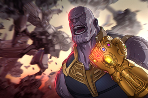 Avengers Infinity War Thanos Gauntlet Artwork Wallpaper