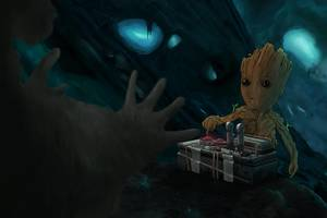 Baby Groot 10k Artwork