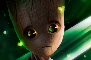 Baby Groot Art HD Wallpaper