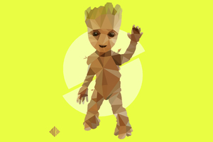 Baby Groot Artwork 4k Wallpaper