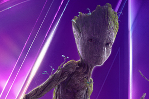 Baby Groot In Avengers Infinity War New Poster Wallpaper