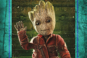 Baby Groot In Guardians Of The Galaxy Vol 2 4k Wallpaper