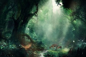 Bambi Jungle Wallpaper