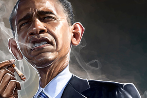 Barack Obama Smoking 5k Wallpaper