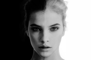 Barbara Palvin Black And White Portrait 8k