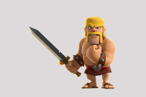 Barbarian Clash Of Clans 4k