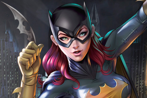 Batgirl Digital Artwork Wallpaper