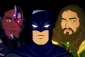 Batman Aquaman Cyborg Artwork Wallpaper