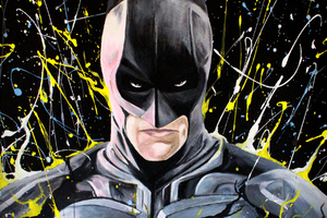 Batman Color Paint Art