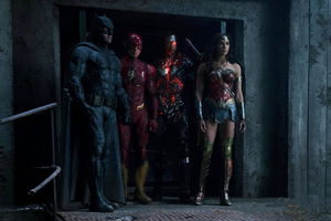 Batman Flash Cyborg And Woman Woman In Justice League