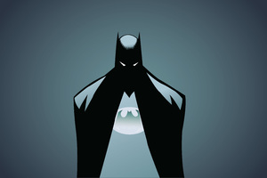 Batman Minimalism Illustrator 5k Wallpaper