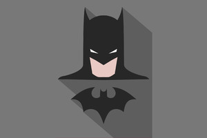 Batman Minimalism Poster Wallpaper