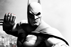 Batman Monochrome Art Wallpaper