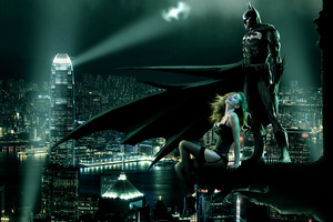 Batman Seeing Gotham With Girl 4k Wallpaper