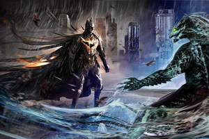 Batman VS Killer Croc Art Wallpaper