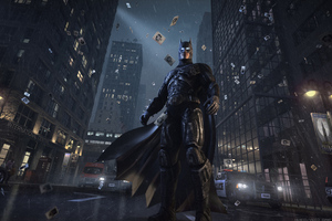 Batman Watching Gotham City Wallpaper