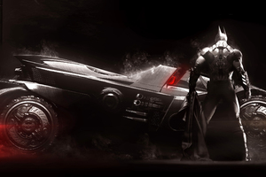 Batmobile Batman Arkham Knight Artwork Wallpaper
